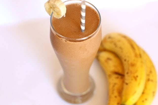 Dairy-Free Chocolate Peanut Butter Banana Smoothie.