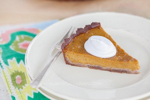 Ina Garten Pumpkin Pie grain-free and dairy-free pumpkin pie - against all grain