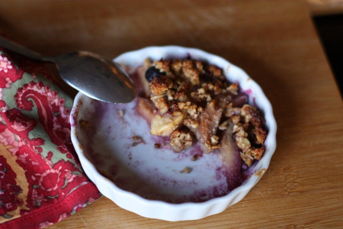 Apple, Pear, Blueberry Crisp - Against All Grain | Against All Grain ...