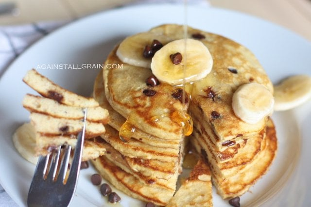 Grain-Free Paleo Chocolate Banana Pancakes - From Against All Grain