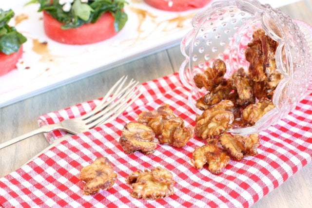 Spiced Candied Walnuts are great as a snack or salad topper.