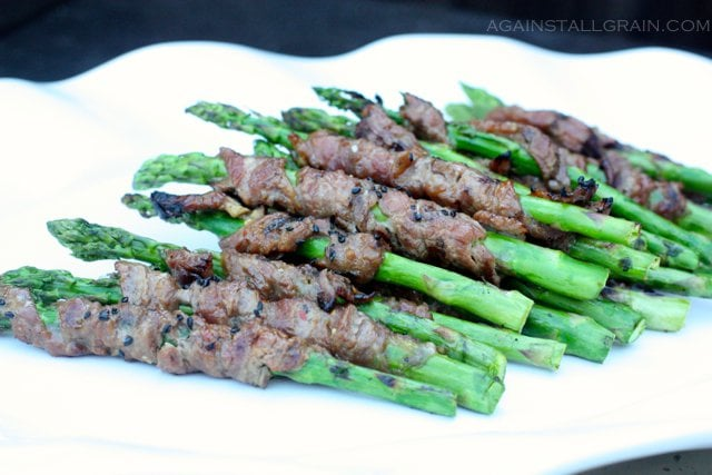 Korean Beef Wrapped Asparagus Against All Grain Against All Grain Delectable Paleo Recipes To Eat Feel Great