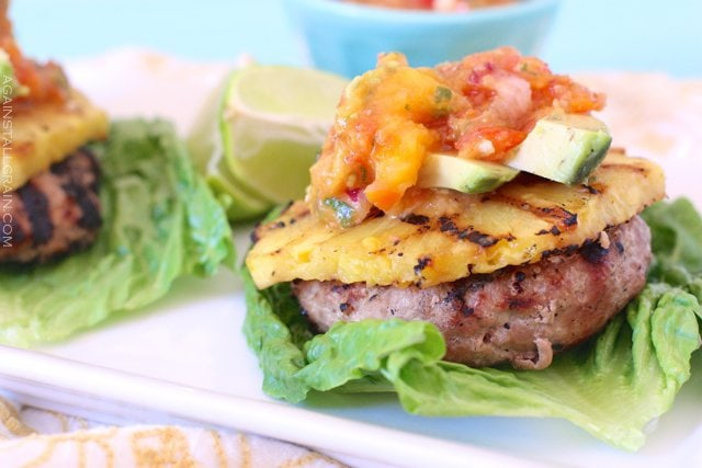Hawaiian Turkey Burger made with coconut amigos and pineapple juice for that island flavor!