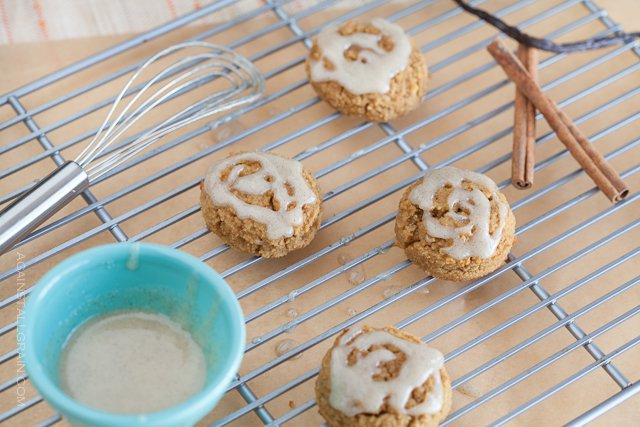 Pumpkin Spice Cookies with Vanilla Cinnamon Icing - Against All Grain ...