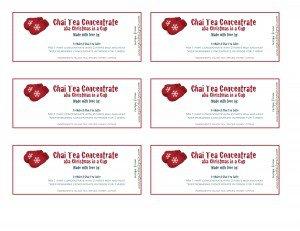 Chai Tea Gift Tags - against all grain