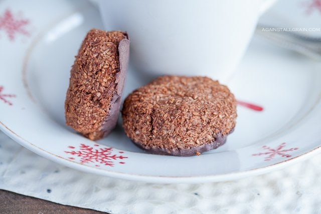 Grain-Free Chocolate Mint Macaroons - from Against All Grain