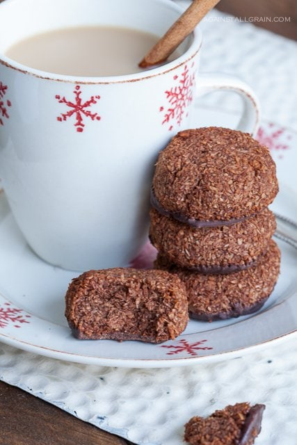 Paleo Chocolate Mint Macaroons - from Against All Grain