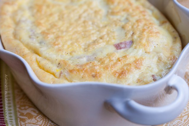Baked Omelette with Gruyere and Ham