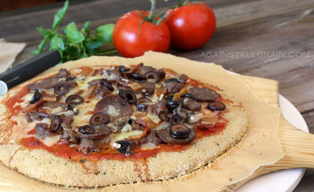 Grain-Free Meat Lovers Pizza - from Against All Grain