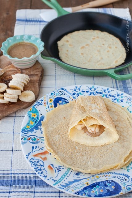 Grain-Free Paleo Crepes - from Against All Grain #Paleo #GlutenFree