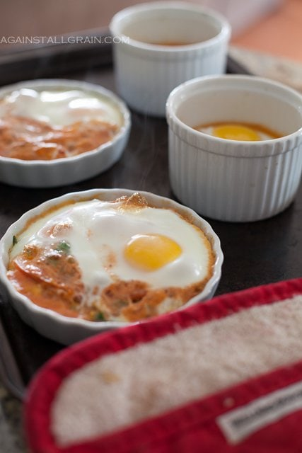 Italian Baked Eggs - by Against All Grain #Paleo #Whole30 #GlutenFree