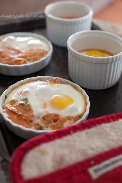 Italian Baked Eggs - by Against All Grain #Paleo #Whole30 #GlutenFree