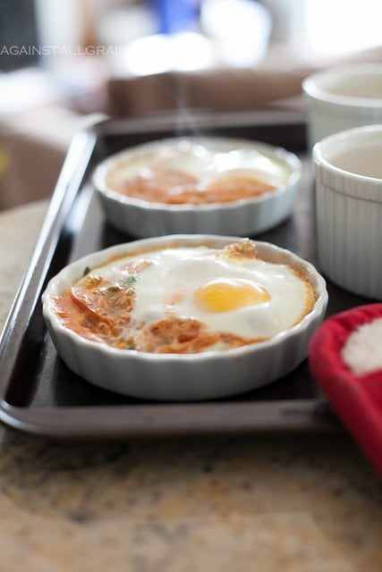 Italian Baked Eggs (#Paleo #Whole30 #SCD) - by Against All Grain