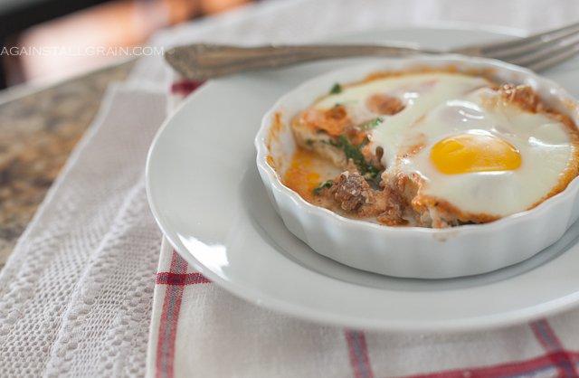Italian Baked Eggs -  by Against All Grain #paleo #whole30