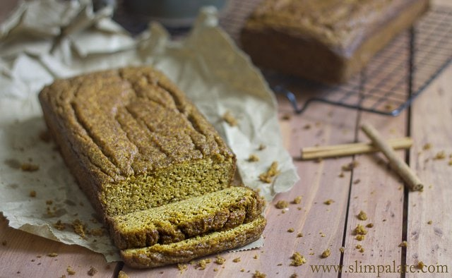 Slim Palate Guest Post on Against All Grain - Paleo Pumpkin Bread