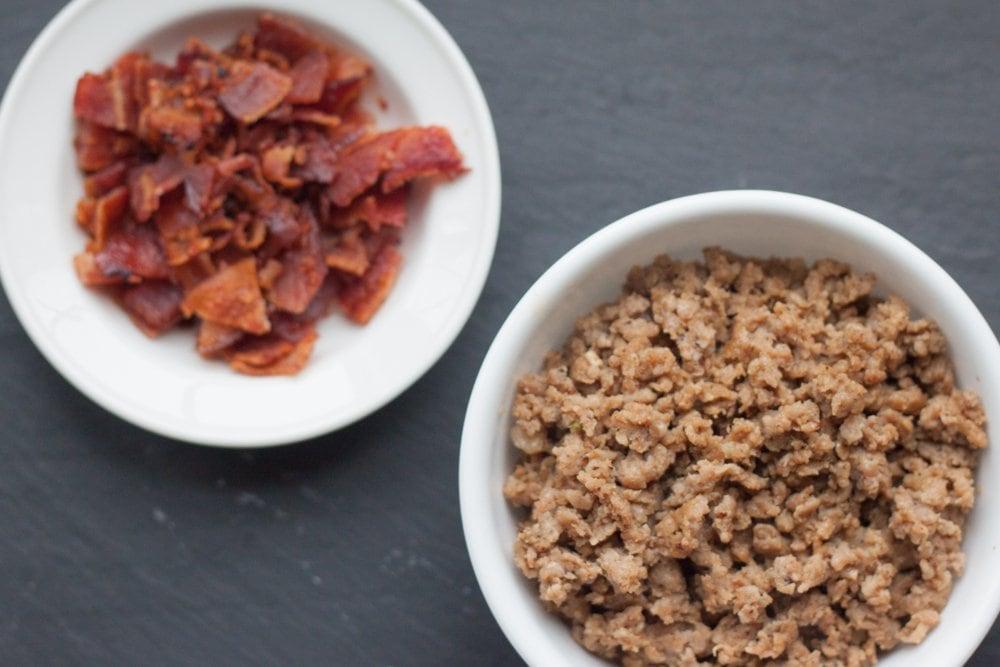 bacon and sausage