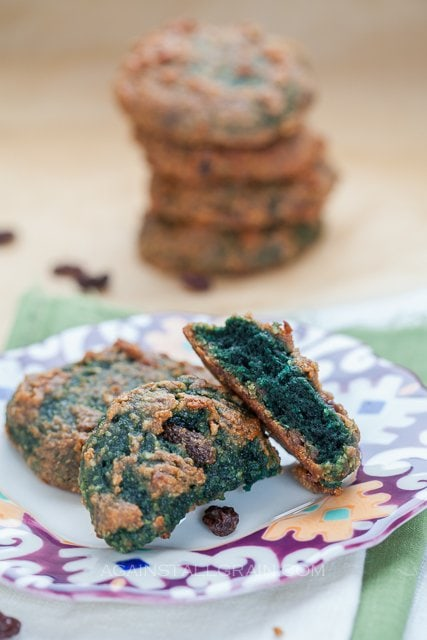 Cinnamon Raisin 'Oat'Meal Cookies for St. Paddy's Day- by Against All Grain