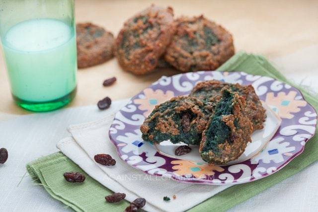 Cinnamon Raisin 'Oat'Meal Cookies for St Patrick's Day - By Against All Grain (Egg/Nut/Grain Free)