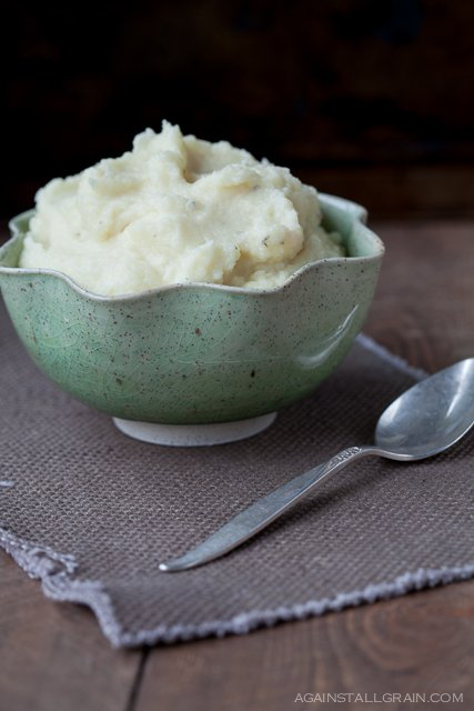 Buttery Thyme Parsnip and Turnip Puree
