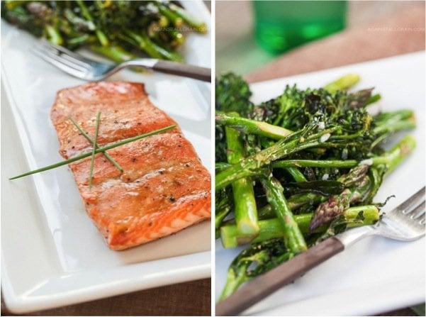 Asian Glazed Salmon with Roasted Broccolini and Asparagus - Against ...