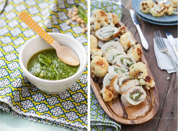 Pesto Chicken Roulade - by Against All Grain #scd #paleo #glutenfree