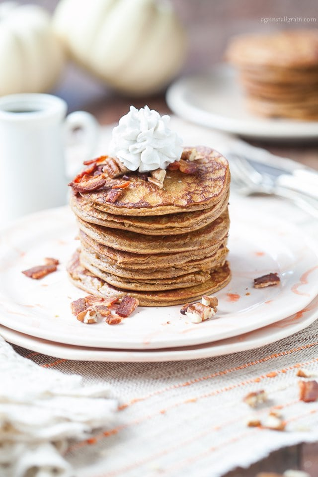Paleo Pumpkin Pancakes by Danielle Walker Against all Grain