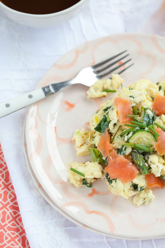 Smoked Salmon Scramble from Against all Grain