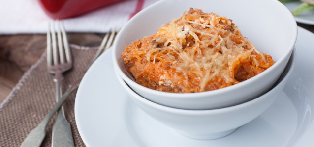Cheesy Baked Spaghetti from Against all Grain