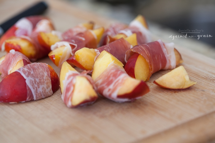 Shrimp & Nectarine Skewers |Danielle Walker's Against all Grain