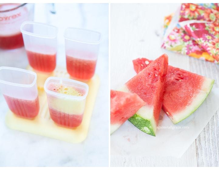 Danielle Walker's Against all Grain : Watermelon Pineapple Popsicles Fruit