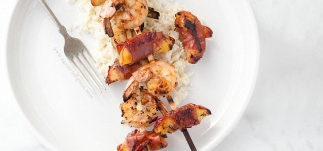 Shrimp &Nectarine Skewers   Danielle Walker's Against all Grain
