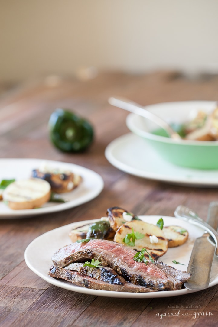 Balsamic Cilantro Flank Steak | Danielle Walker's Against all Grain