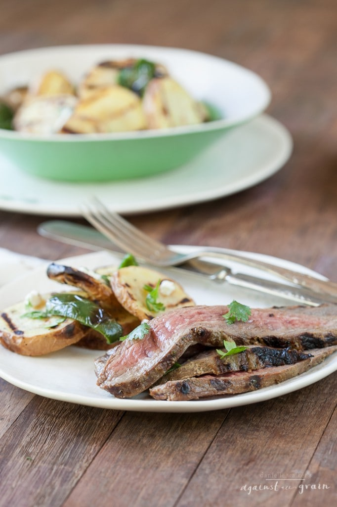 Balsamic Cilantro Grilled Flank Steak | Danielle Walker's Against all Grain