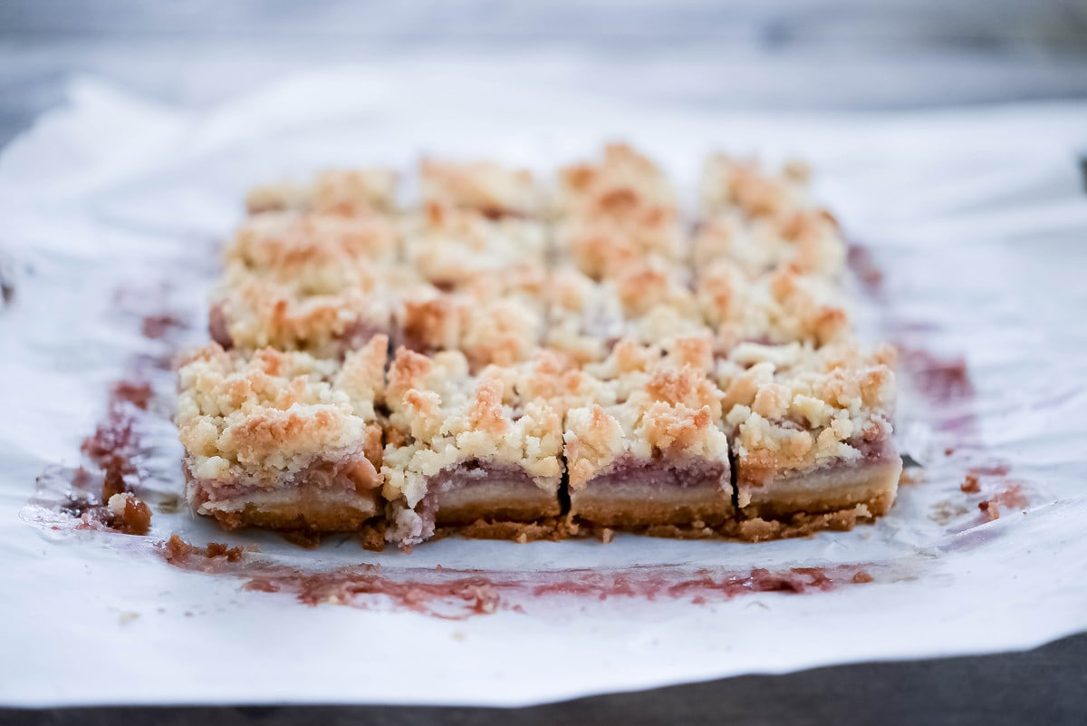 Guest Post Strawberry Rhubarb Bars Against All Grain