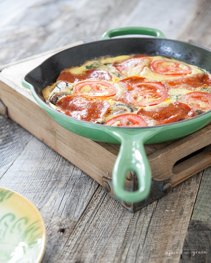 Pizza Frittata by Danielle Walker Against all Grain