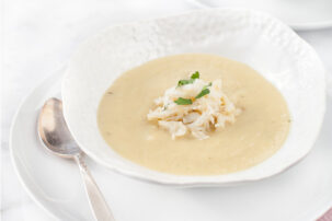 Roasted Parsnip and Crab Soup