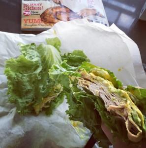 Whole Foods Deistel turkey lettuce wrap mustard pickles avocado