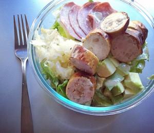 salad applegate chicken apple sausage salami avocado kraut