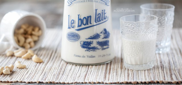 Dairy-Free Cashew Milk from Danielle Walker Against All Grain