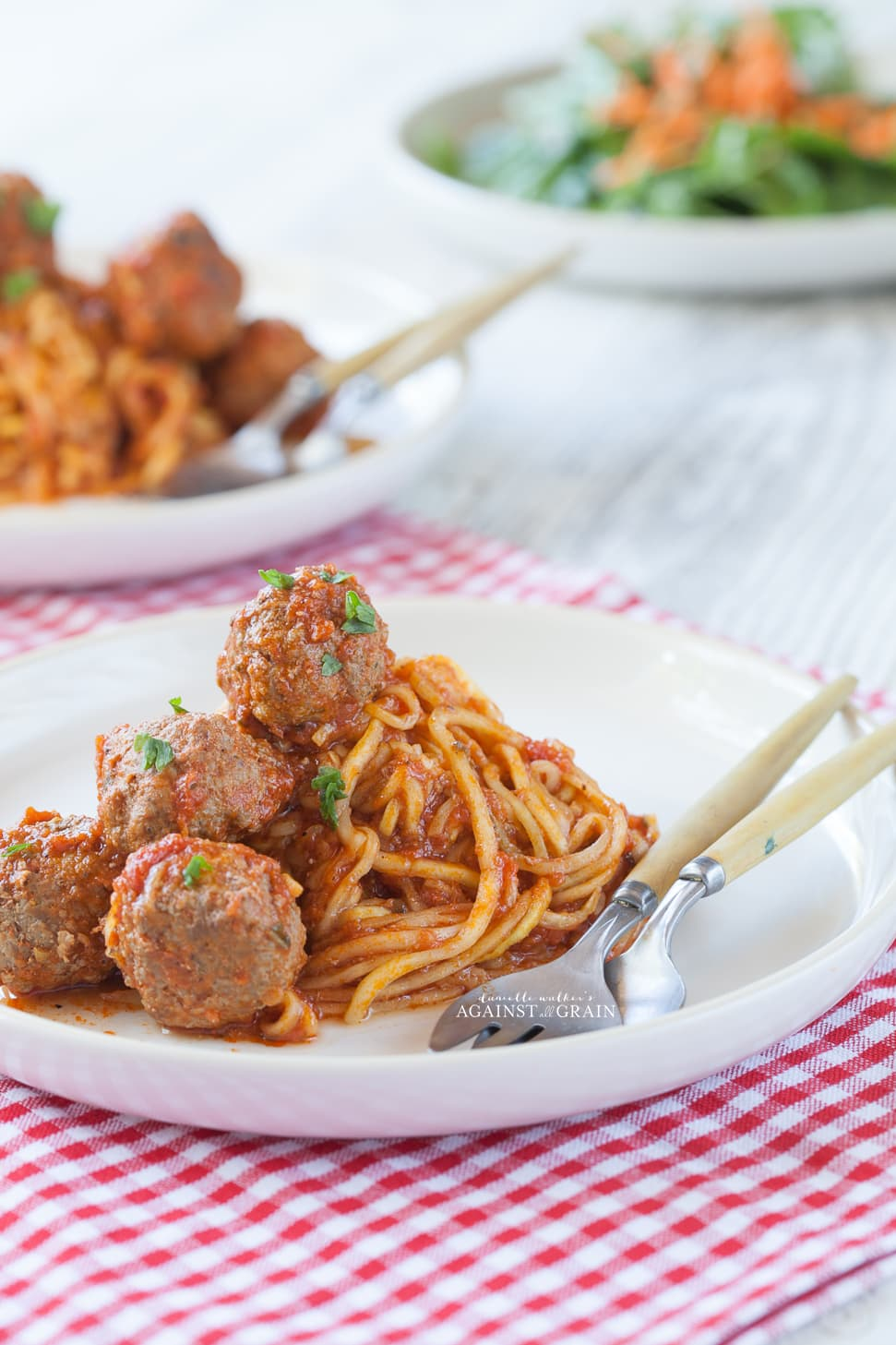 Paleo Spaghetti and Meatballs | Against All Grain - Delectable paleo ...
