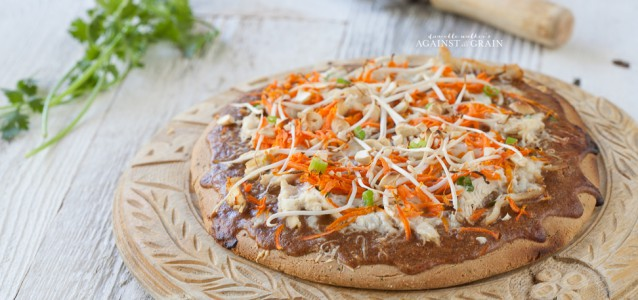 Thai Chicken Pizza from Against all Grain