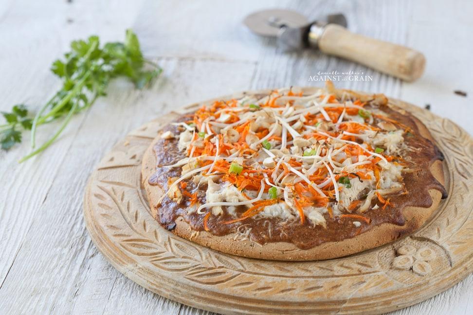 Thai Chicken Pizza Against All Grain Delectable Paleo