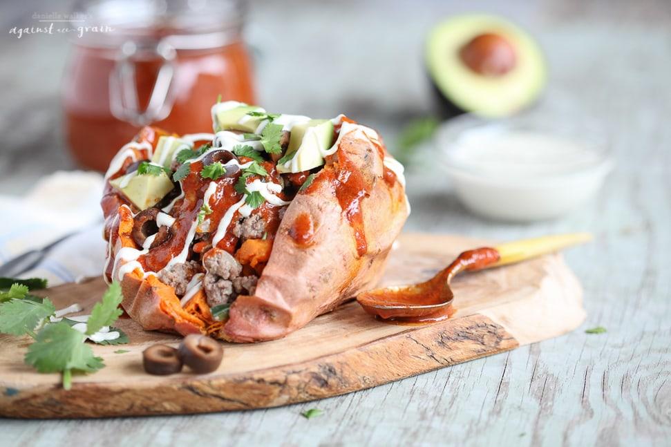Enchilada Stuffed Sweet Potatoes