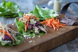 Thai Steak Lettuce Wraps