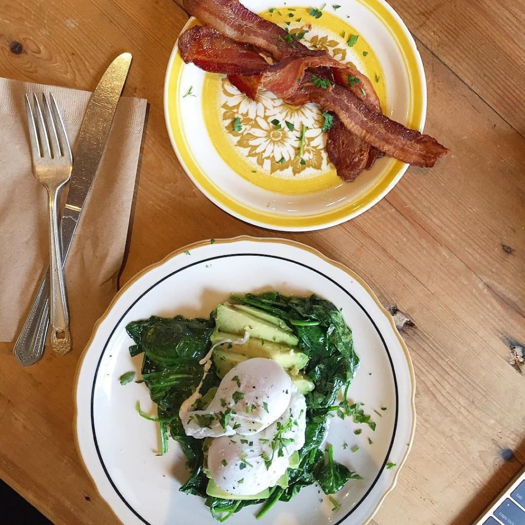 Working_breakfast-_Poached_eggs_over_spinach_and_avo_with_a_side_of_bacon.__editing__aagbook3