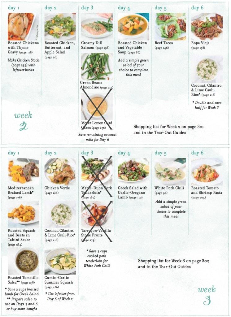 MMS Whol 30 Meal Plan Week 2 & 3