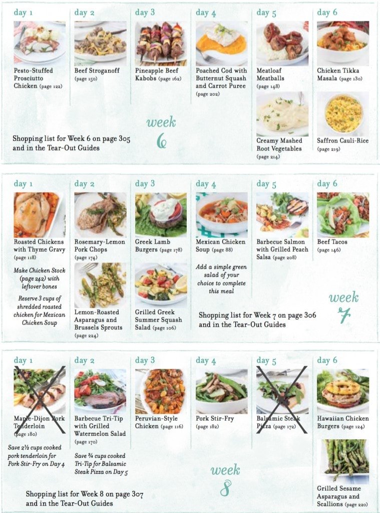 MMS Whole 30 Meal Plans Week 6&7&8