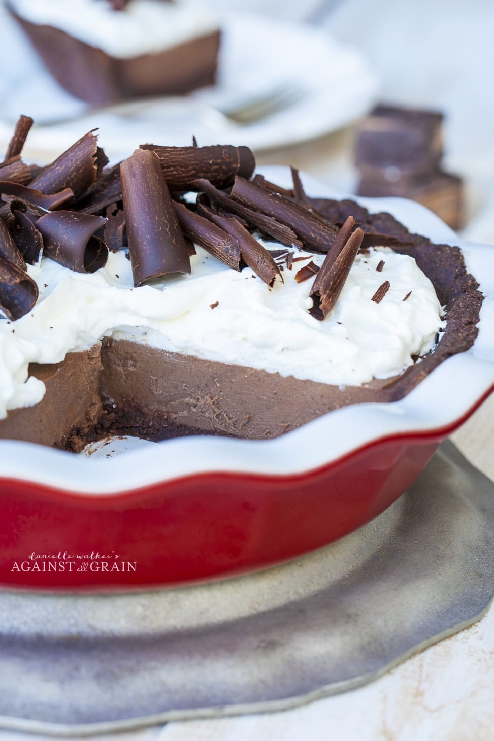 Chocolate Pudding Pie with Chocolate Cookie Crust - Against All Grain ...