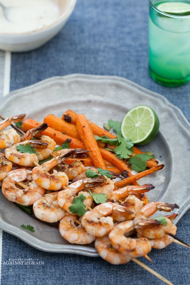 Paleo Tequila Lime Shrimp from Danielle Walker's Against all Grain