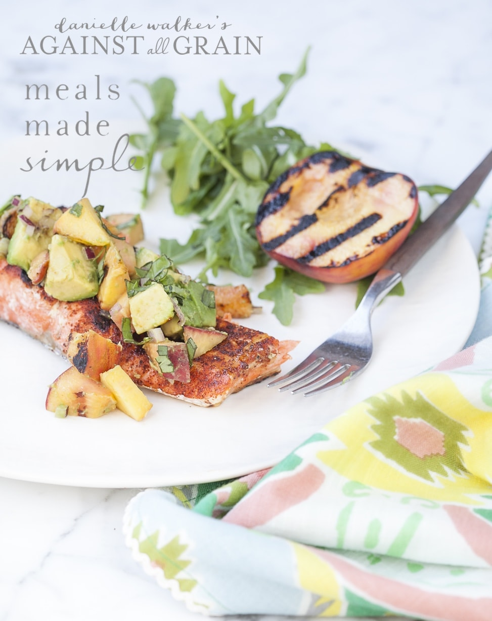 paleo bbq rub recipe on salmon from meals made simple cookbook by danielle walkers against all
